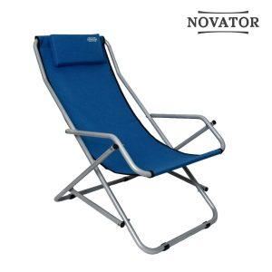 Кресло-шезлонг Novator SH-7 Blue Новатор