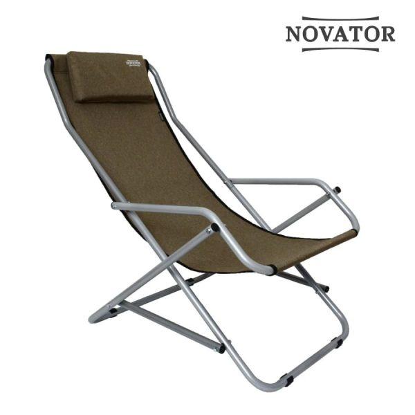 Кресло-шезлонг Novator SH-7 Brown-1 Новатор