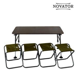 Стол + 4 стула комплект для кемпинга Novator SET-3 Новатор